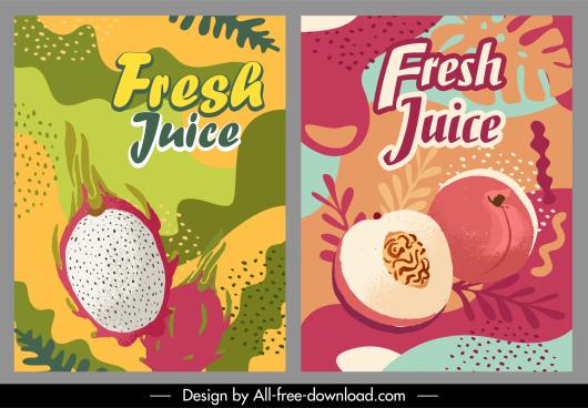 fruit advertising banner classical handdrawn sketch