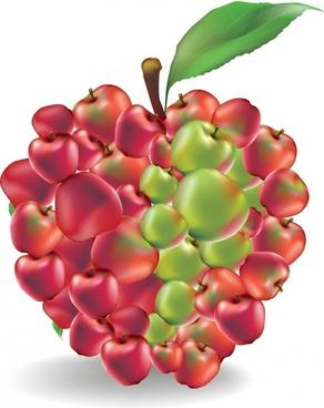 fruit apple vector