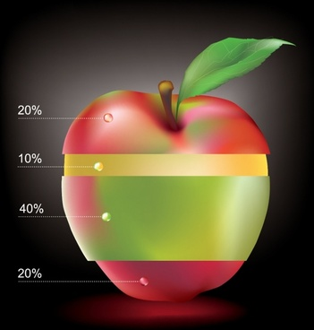 fruit apple vector