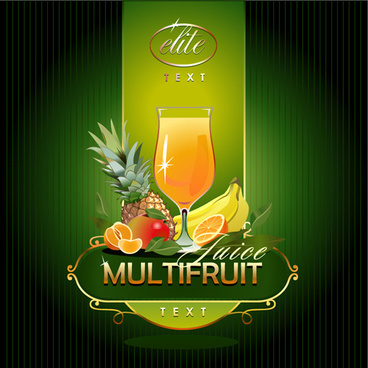 fruit drinks backgrounds creative vector