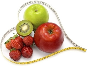 fruit heartshaped ruler picture