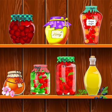 fruit jam and honey