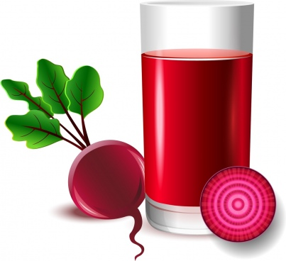 fruit juice advertisement red beet glass decoration