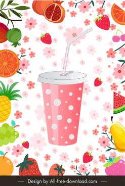 fruit juice advertising background colorful dynamic decor
