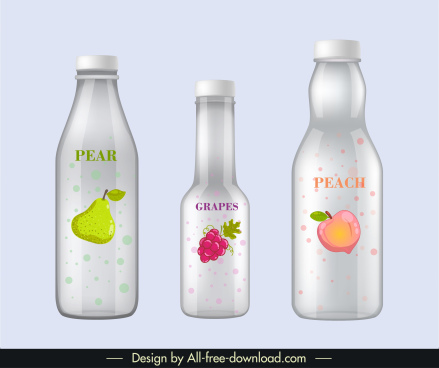 fruit juice bottle templates shiny modern decor