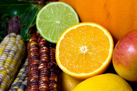 fruit orange lime
