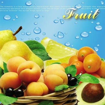 fruit psd layered
