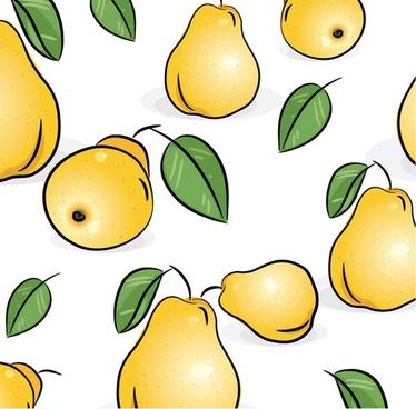 fruit tiled background vector 1