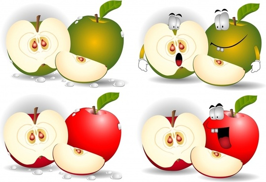apple icons funny stylized design