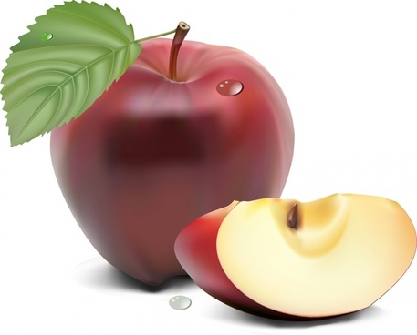 fresh apple background 3d colored realistic design