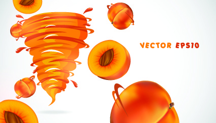 fruit with juice vector set