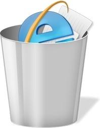 Full Gray recycle bin