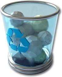 Full recycle bin