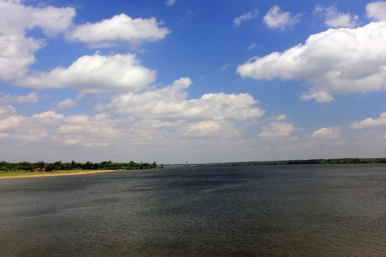 full view of lake from dam at alum creek state park state park ohio