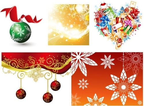 fun christmas element vector