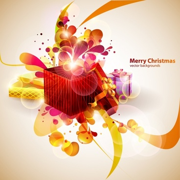 christmas background modern twinkling 3d dynamic design