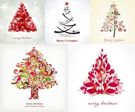 fun christmas tree vector