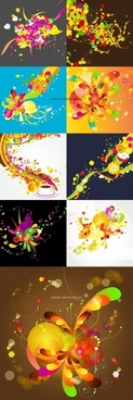 fun fashion pattern vector background on 9