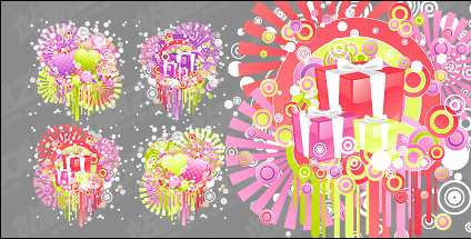 Fun Valentine's Day vector material