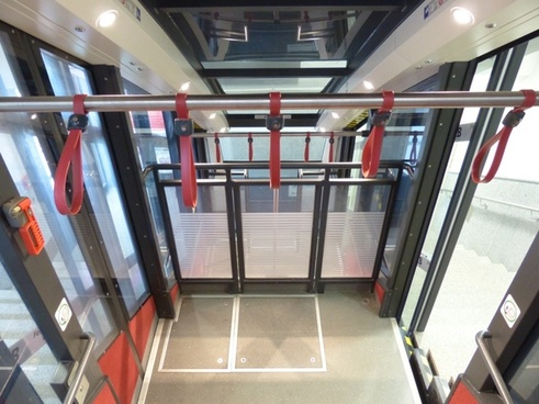 funicular railway train interior