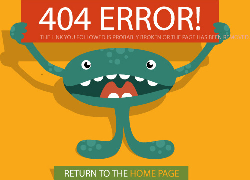 funny4 error page design vector