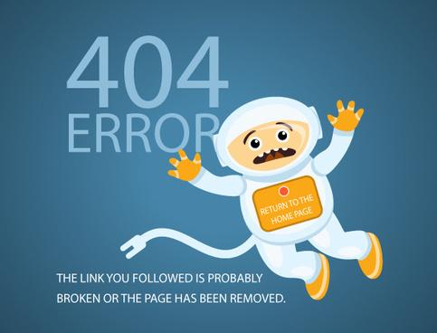 funny4 error page design vector