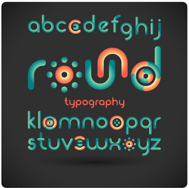 funny alphabet font vector design