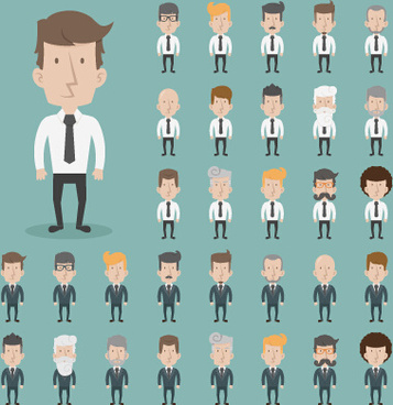 funny business people character creative vector