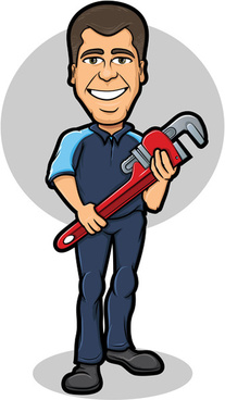 funny cartoon builders vector illustration