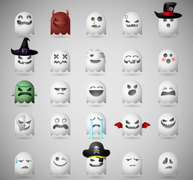 funny cartoon ghost icons