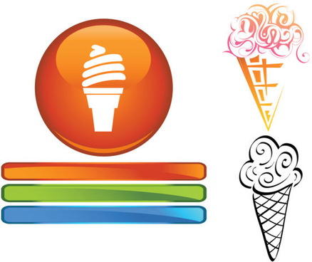 funny cartoon ice cream vector