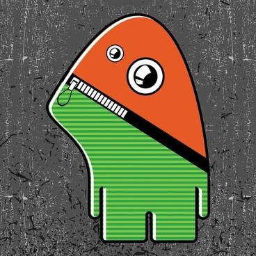 funny cartoon illustration vector