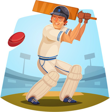 funny cartoon sporting design vector