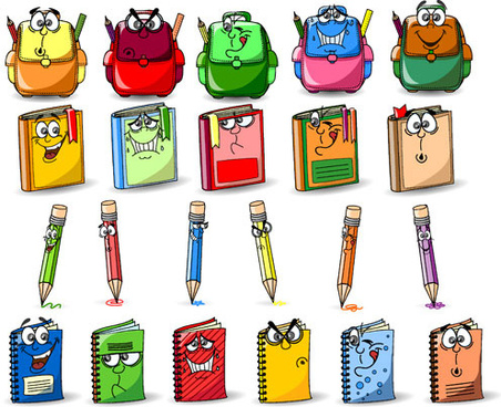 funny cartoon stationery image free vector