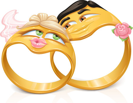 funny cartoon style ring vector