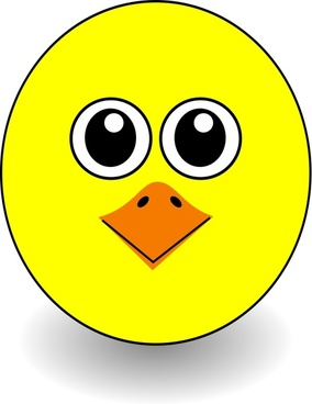 Funny Chick Face Cartoon