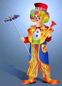funny clown show vector