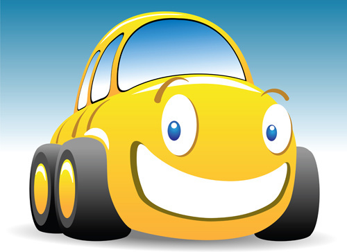 funny color cartoon cars vector
