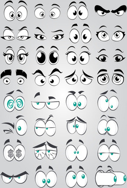 funny comics eyes vector
