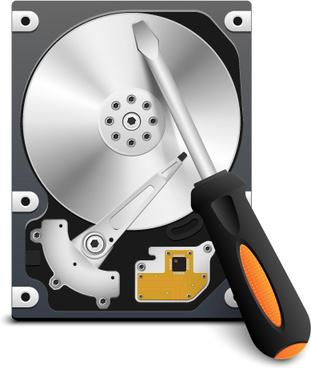 funny computer repair service elements vector