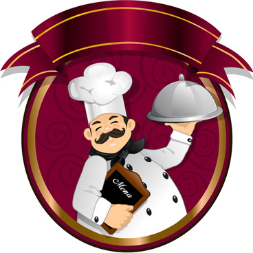 funny cook background vector