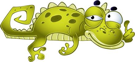 funny crocodile design vector