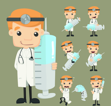 funny doctor character vectors graphics