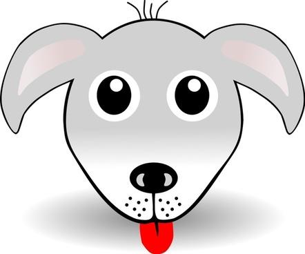 Funny Dog Face Grey Cartoon