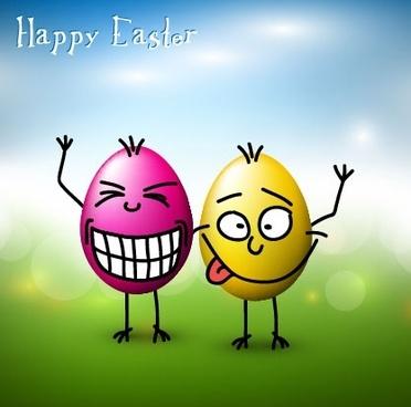 funny eggs 02 vector
