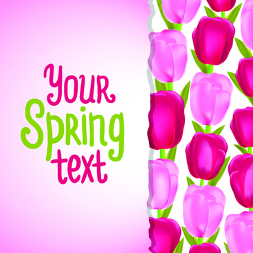 funny floral vector background