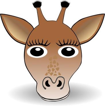 Funny Giraffe Face Cartoon