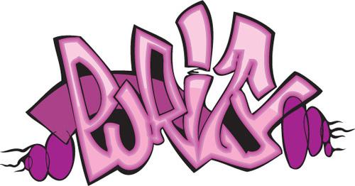 funny graffiti alphabet design vector