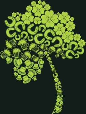 funny green tree vector