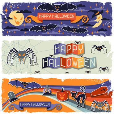 funny halloween vector banner